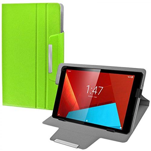 eFabrik Custodia Universale Tablet per Vodafone Tab Prime 7 Cover 10.1 Pollici Case Caso Casi Sacchetto di Protezione Folio Finta Pelle Verde