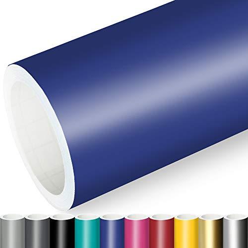 Actinium® Klebefolie 7€/m² Blau Matt   5m x 0,63m selbstklebende matte Folie   Möbelfolie selbstklebend Küchenfolie Plotterfolie