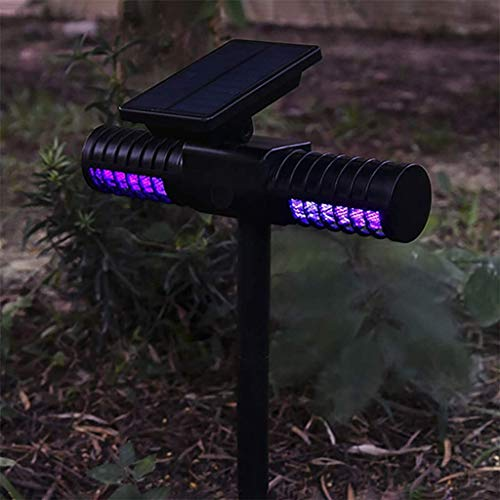 Solar Powered LED Mosquito Killer Lamp with Double Head - Outdoor Garden Lawn Mosquito Repellent Path Light Mosquito Traps
