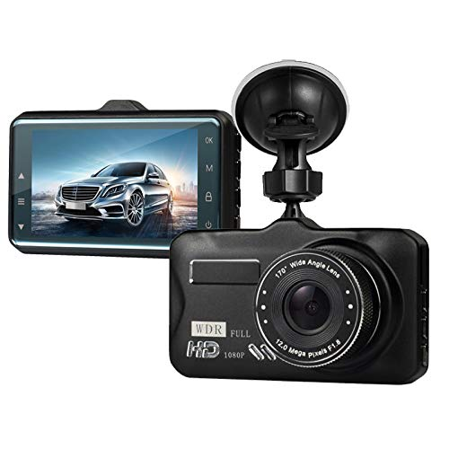"Dash Cam,Dashboard Camera, Frehoy Full HD 1080, 3.0"" Screen DVR Car Dashboard Camera Recorder with 170 Wide Angle, Night Vision, G-Sensor, WDR, Loop Recording, Motion Detection, (Black ¡"