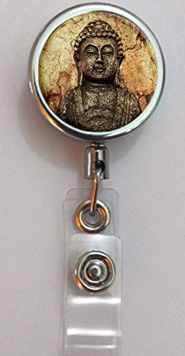 BlackKey Tibetan Buddha Retractable ID Card Badge Holder Reel with Lanyard & Belt Clip -7