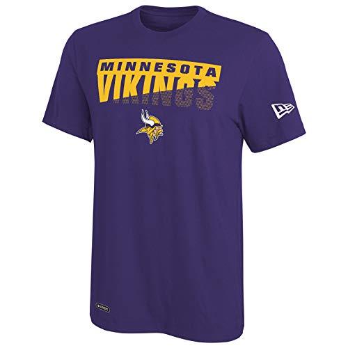 New Era NFL Men's Scoreboard Dri-Tek Short Sleeve Tee, Minnesota Vikings XX-Large