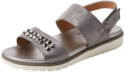 XTI 47949, Sandalias con Punta Abierta Mujer, Gris (Plomo), 39 EU (Zapatos)