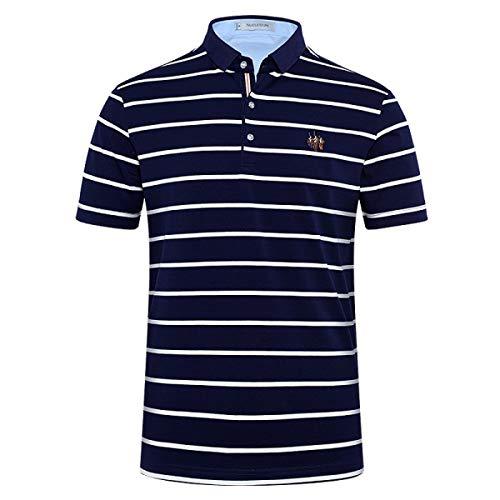 Willlly polohemd mannen klassieke strepen business chic casual poloshirt heren t-shirts casual korte mouwen kraag tops basic
