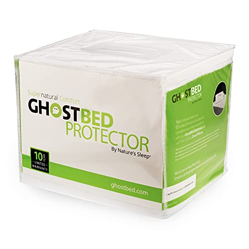GhostBed Queen Waterproof Mattress Protector & Cover - Noiseless, Lightweight, Breathable & Plastic-Free