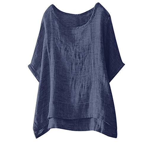 MAZHANG Damen Oberteile Sommer mit spitzedamen Oberteile Langarm onlyoberteile Damen sexyspitzen Oberteile Damen topsspitzenshirt (Blau 61 M)