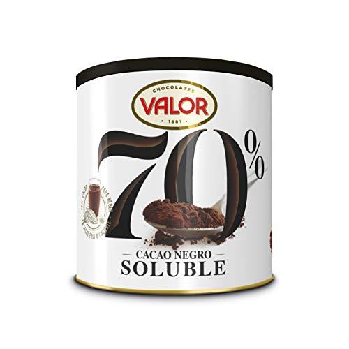 Valor, Cacao Ne gro Soluble 70{b29c9ebe7dd395ae9bd9aee08a1c04d4180a94ba38a01a318a7b8435c0c8a18e} - 300 gr