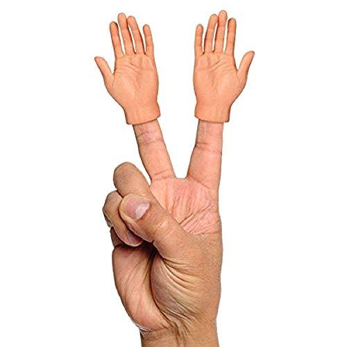 Okssud Winzige Fingerhände, 2 Pcs Tiny Hand Fingerpuppen Kleiner Finger Props Für Hände Halloween Hand Prop Zubehör, Mini Gummi Puppen Finger Hände Fingerpuppen Set