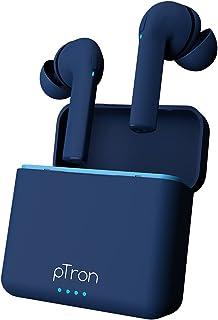 pTron Bassbuds Vista in-Ear True Wireless Bluetooth 5.1 Headphones with Deep Bass, IPX4 Water/Sweat Resistant, Passive Noi...