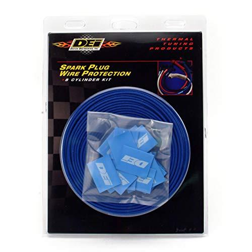 Dei 010601protect-a-wire Kit para cubrir y proteger Bujía Cables, 2cilindros, color plateado