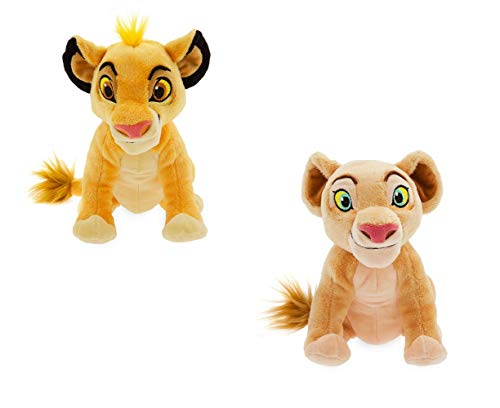 OfficialDisney Lion King - Juego de Juguetes Simba y Nala Soft Bean Bag