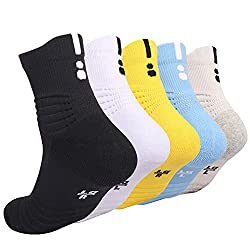 top rated DISILE Elite Basketball Socks, Soft Crew Sports Socks – Thick Sports Socks for Boys and Girls… 2021