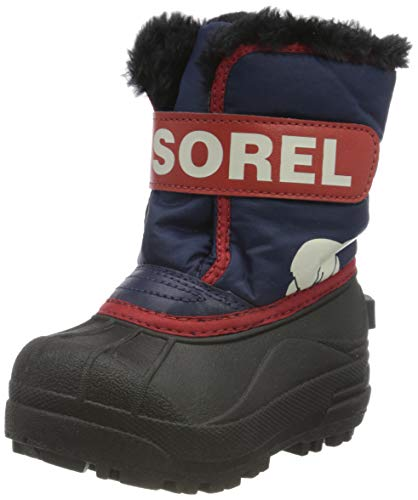 Sorel Unisex-Baby-Winterstiefel, TODDLER SNOW COMMANDER, Lila/Rosa (Nocturnal, Sail Red), Größe: 24