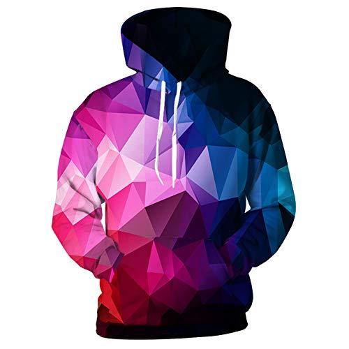 HNKPWY hoodies mannen vrouwen kleur Cubic Geometry Printed sweatshirts 3D met capuchon Galaxy trainingspak mannelijk jack