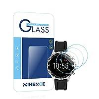 【3枚入り】 Mihence Compatible [フォッシル] FOSSIL Gen5 Garrett HR保護フィルム, 9H ガラス保護フィルム 対応 Fossil Garrett HR (GEN5) Smartwatchスマート腕時計 2.5Dラウンドエッジ ウォッチ指紋防止保護膜