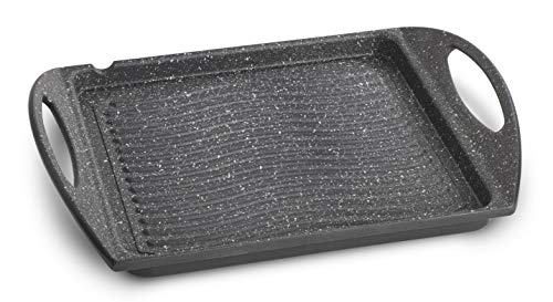 Lagostina Speciali Antiaderenti Piastra, Alluminio Pressofuso, Grigio, 25 x 25 cm