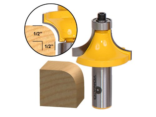 Yonico 13166 1/2-Inch Radius Round Over Edge Forming Router Bit 1/2-Inch Shank