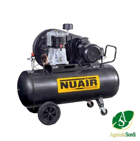 Nuair compressore d'aria a pistoni in ghisa NB4/4CT/270 117 kg V400 collettori
