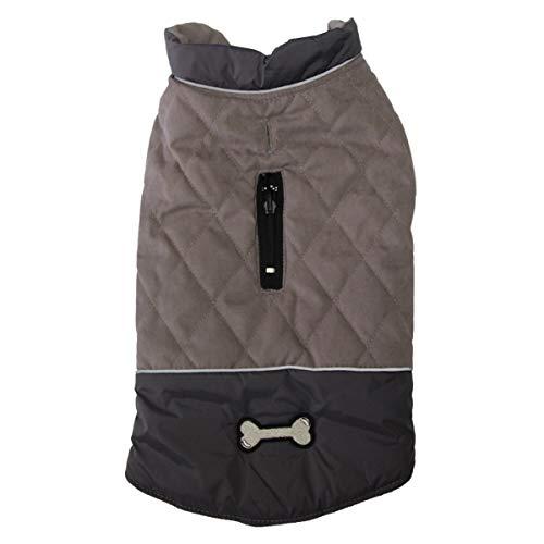 JoyDaog - Cappotti reversibili per cani di piccola taglia, impermeabile, per il freddo inverno, colore: Grigio S