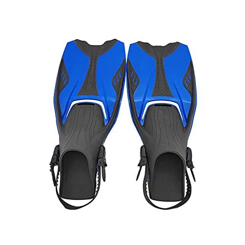 ZAYZ Aletas de Natacion Talón Abierto Ajustable Aletas para Nadar, Bucear, Bucear, Hombres Mujeres (Color : Blue, Size : XL)