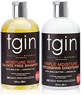 tgin Moisturizing Shampoo & Conditioner Duo For Natural Hair - Dry Hair - Curly Hair