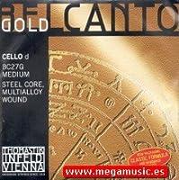 CUERDA VIOLONCELLO - Thomastik (Belcanto Gold BC 27G) (Cromo/Aluminio) 2ェ Medium Cello 4/4 (Re) D