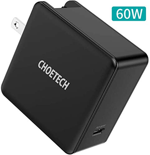CHOETECH USB C Cargador PD 60W, USB Tipo C Cargador Carga Rápida PD 3.0 para MacBook, Macbook…