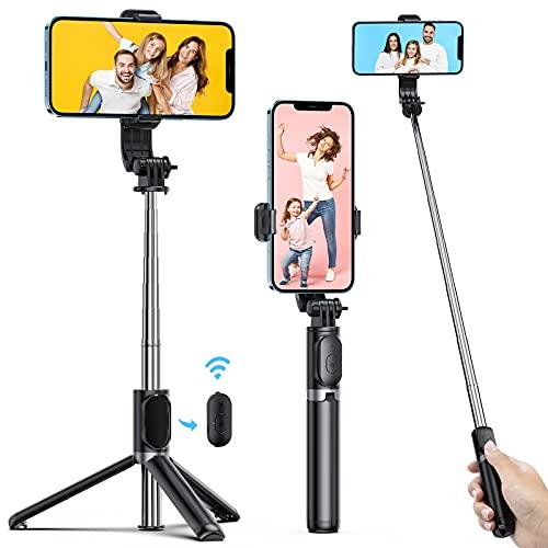 ATUMTEK Palo Selfie Trípode con Bluetooth, 3 en 1 Selfie Stick Extensible hasta 1 m...