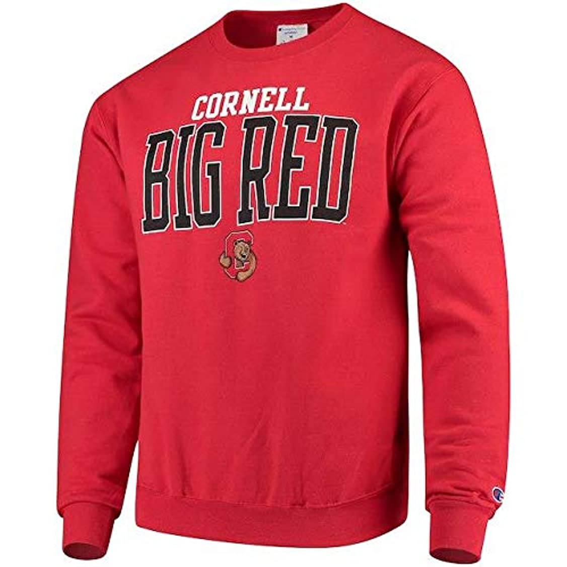 キャプション池スカートChampion Champion Cornell Big Red Red Eco Powerblend Expansion Pullover Sweatshirt スポーツ用品 【並行輸入品】