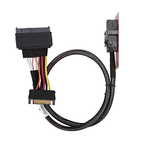 ASHATA U.2 zu M.2 Kabel SF-8639 Verbindungskabel für Intel 750 P4610 Samsung 983, Übertragung der M2 PCIe SSD-Schnittstelle zur SFF-8643 Schnittstelle, M2 SFF-8643 Riser Card Support Z97 Z170 H97 X99