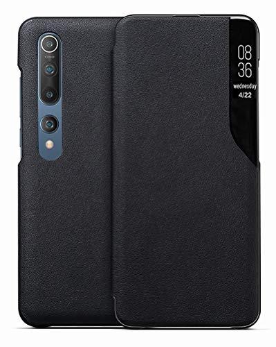 EUDTH Xiaomi Mi 10/Mi 10 Pro Hülle, Flip Cover Smart View Window Hülle Schutzhülle PU Leder Handyhüllen für Xiaomi Mi 10/Mi 10 Pro 6.67