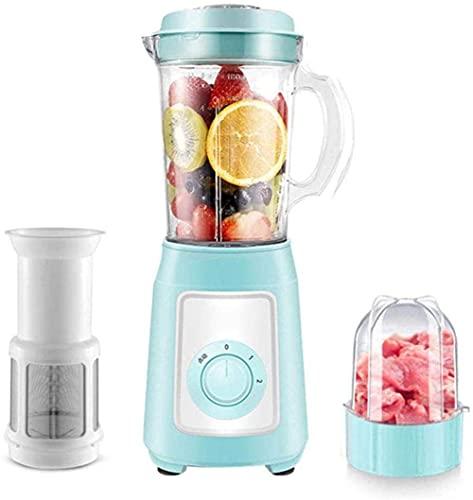 HYLK Blender Premium Smoothie Maker 300w, 22,000 Rev/min, Jarra de 1150ml (tritan), función de triturador de Hielo, Recipiente Adicional para Mezclar, lavavajillas, Azul, c, Azul, c