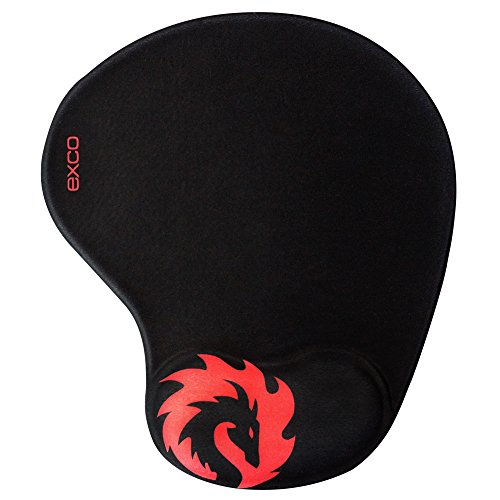 Red Tame Dragon -EXCO Mousepad with Soft Comfort Silica Gel Wrist Support Pad, Non-Slip PU Base, Smooth Surface Gaming Wrist Support Mouse Pad-Fit for Computers and Laptops