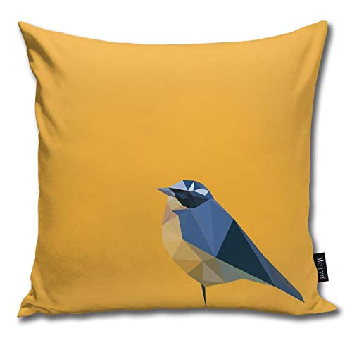 Fashion Funny Throw Pillow Covers Bird Printed 18 x 18 Inches Cases Cushion Cover Pillowcases for Home,Indoor,Bed,Gard