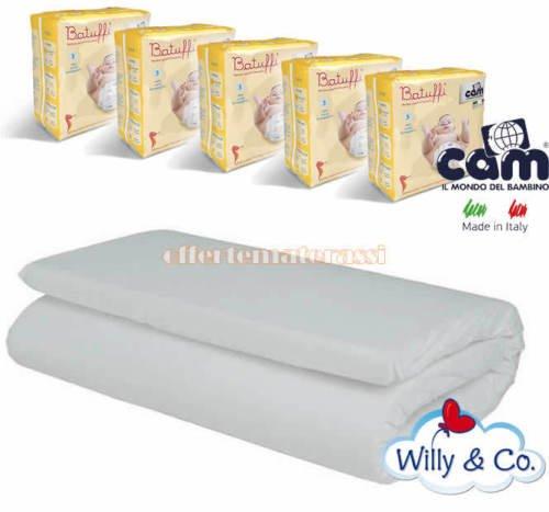 Materassino Willy & Co Campeggio + 100 Pannolini CAM taglia 3 MIDI 4-9 kg