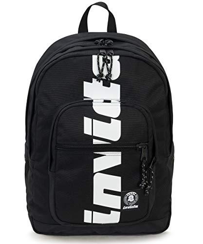 ZAINO INVICTA - JELEK - Logo Black - tasca porta pc padded - 38 LT - Scuola e tempo libero