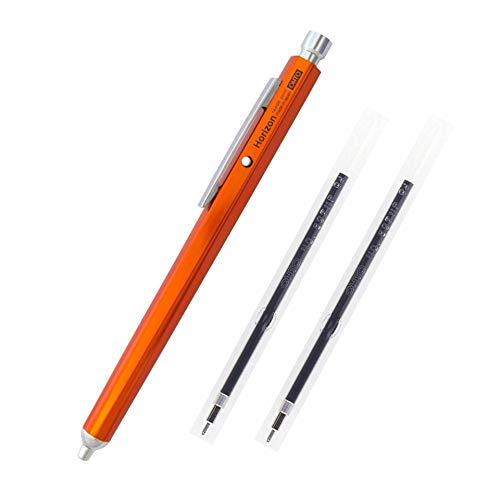 Ohto Needle-Point Horizon Ballpoint Pen 0.7 mm (NBP-707H-OR) - Orange Body with Two Extra Refills (No.897NP)
