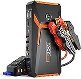 TACKLIFE T8 Booster Batterie-18000mAh/800A Booster Batterie Voiture Moto (Jusqu'à 7.0L Essence 5.5L Gazole), avec écran LCD et Chargeur Rapide Double USB