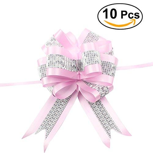 ROSENICE 10 Stück Ziehschleifen Geschenkschleife für Hochzeit Geburtstag Geschenke Zuckertüten