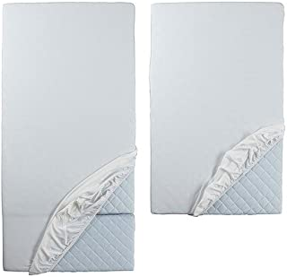 IKEA Len Fitted Sheet F/extend Bed Set of 2 White 402.019.59