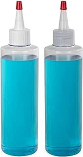 32 oz. Clear PVC Bottle with 28/410 White Yorker Cap (10 Bottles)