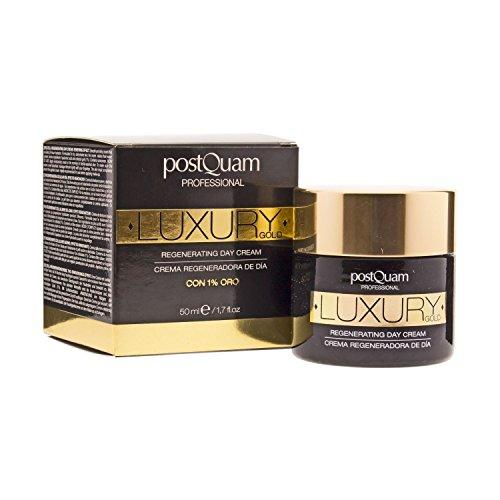 Postquam - Luxury Gold | Regeneration Gesichts Tagescreme mit Hyaluronsäure und das kolloidalem Gold, 50 ML