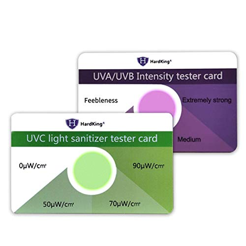 5 Sets UVC/UVB Test Card,Test for All UVA/UVB/UVC Device Such as/Phone Cleaner/Phone Box/Handheld Light Wand and Other Device with UVC/UVB Light