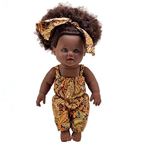 Muñecas Africanas De Muñecas Africanas para Niñas Muñecas De Juego De Bebé con Pelo Rizado para Niños Perfecto para Regalo De Cumpleaños