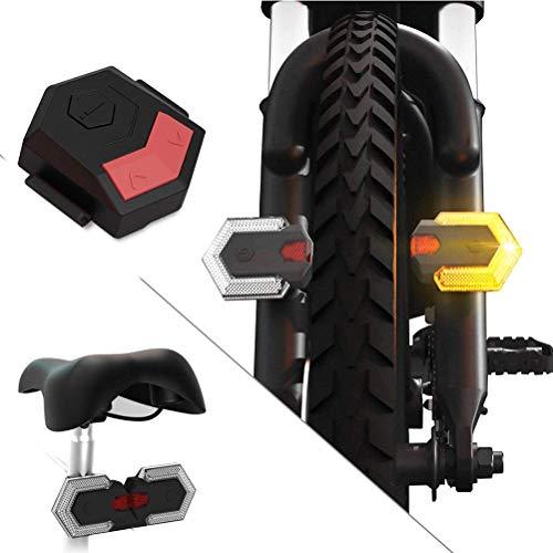 Mumaya Bicycle Tail Light Waterproof USB Charging LED Riding Signal Safety Warning Light with Remote Control Waterproof Bicycle Tail Light for Outdoor Cycling
