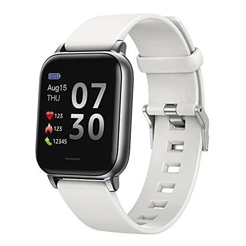 SUPBRO Reloj de pulsera inteligente para fitness, resistente al agua IP68, rastreador de fitness, podómetro, reloj para hombre y mujer, para iOS y Android