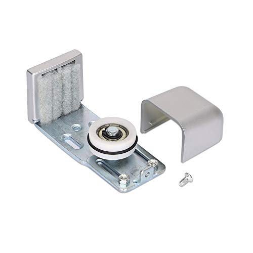 Guía de piso de puerta TUXI, accesorios de puerta automáticos, pared de guía de piso ajustable, guía de piso inferior para hardware de puerta corredera de granero, plata