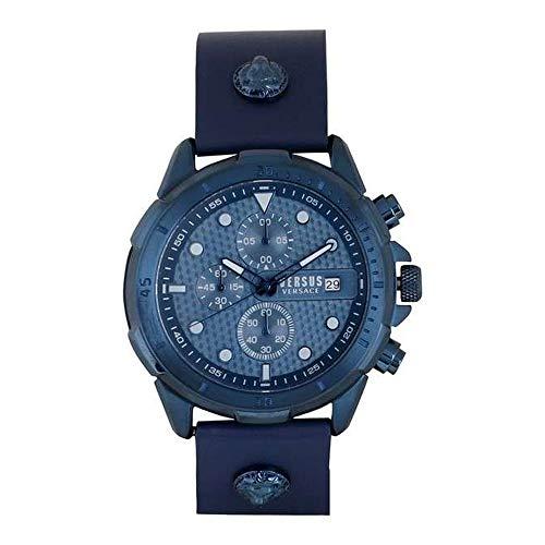 Versus Versace Herren Analog Quarz Uhr mit Leder Armband VSPLP0319