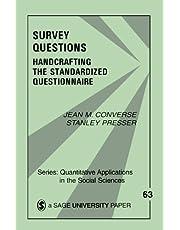 Survey Questions: Handcrafting the Standardized Questionnaire: 63