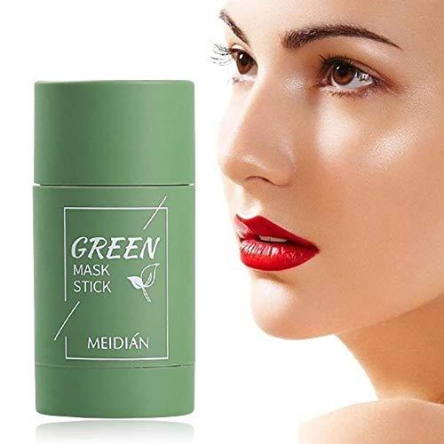 Bumplebee Grüner Tee Purifying Clay Stick Mask Gesichtsmaske, Stick Deep Cleansing Ölkontrolle Anti-Akne-Maske Fine Solid Mask Green Tea, Mitesserentferner Poren Schrumpfen (A-1pc)